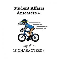 Student Affairs character anteaters