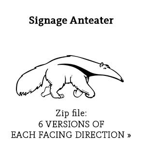 Signage Anteater