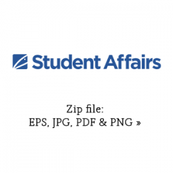 Blue Student Affairs primary graphic link to zip file with eps, jpg, pdf and png versions