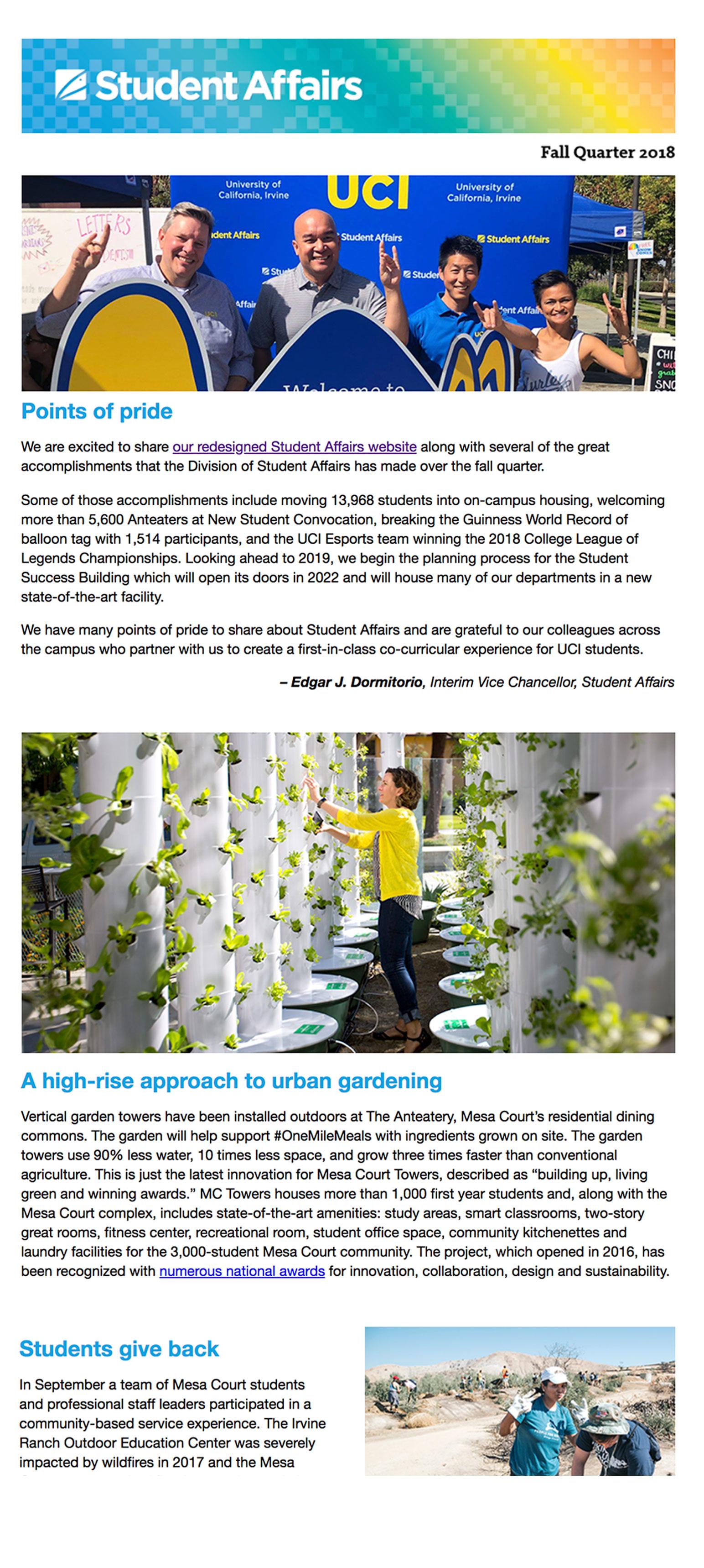 Fall 2018 SA Newsletter