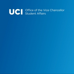 Blue gradient background with transparent white Office of the Vice Chancellor, Student Affairs logo and Student Affairs graphic at top