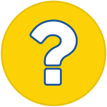 icon of a question mark inside a yellow circle