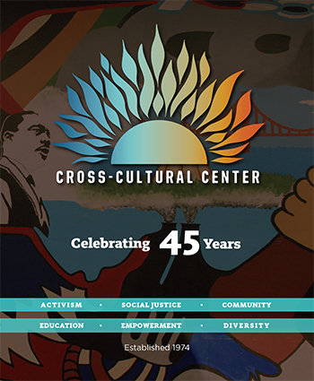 Image of Cross-Cultural Center book cover, Celebrating 45 Years